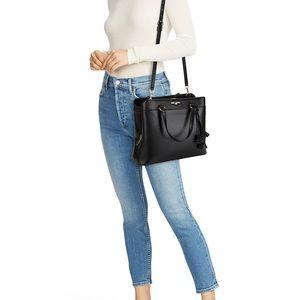 Karl Lagerfed Paris black faux leather purse